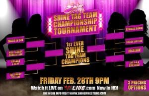 Shine Tag Team Ttile Tourney Brackett