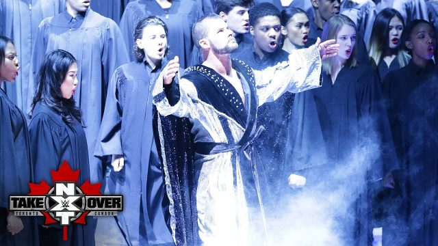 Bobby Roode makes his entrance at Takeover
