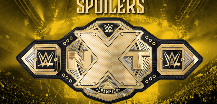 SPOILERS: Big Title Change at NXT TV Tapings