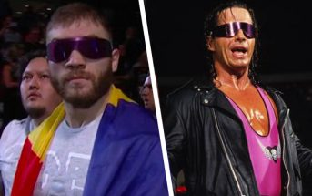 9b49187f21 UFC Fighter Comes Out to Bret Hart s Theme Song in Calgary While  The Hitman   Was in Attendance (Photos   Videos)