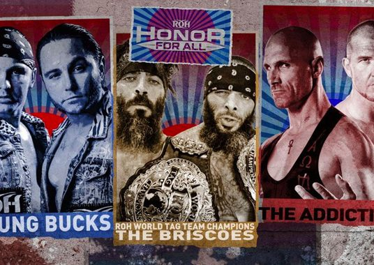 **ROH HONOR FOR ALL RESULTS LIVE NOW: TV TITLE MAIN EVENT, 3-WAY TAG MAYHEM, 10 POUNDS OF GOLD**