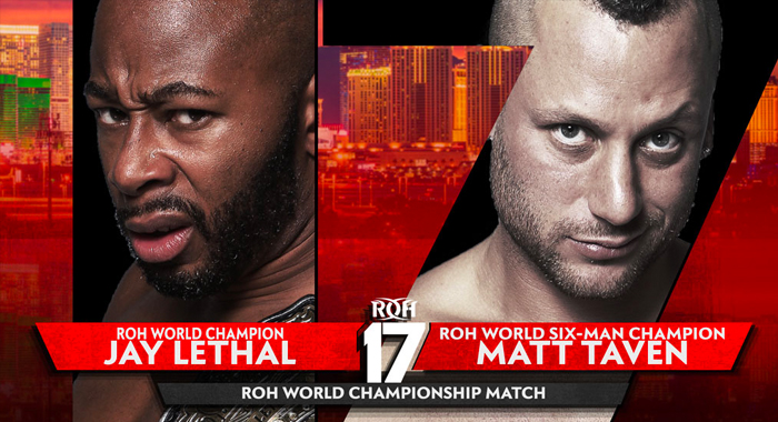 updated match card for this weekend's roh 17th anniversary