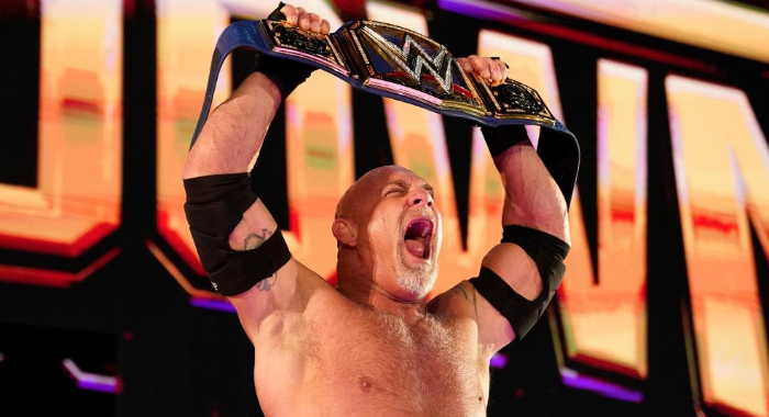 Bill Goldberg wins the WWE Universal Cham